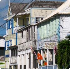 The streets of Basseterre