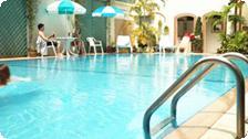 The Viengtai Hotel pool.