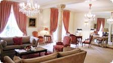 A room at the Plaza Athenee.