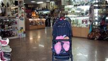 Jiana shopping for souveniers in TSUM.