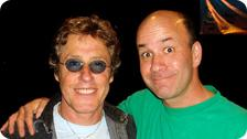 Mark with Sir Roger Daltrey