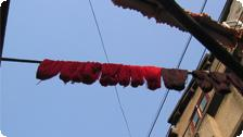 Drying Yarn.