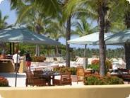 The poolside terrace