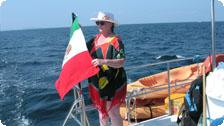 Nancy and Mexican flag