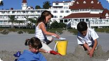 The kid-friendly beaches at the Del.