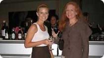 Designer Erin Mahoney and friend