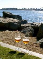Enjoy Stone Brew in a wineglass