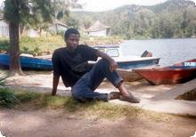 Brother Vianney at Lake Kivu