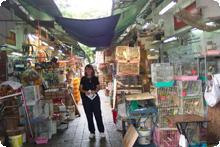 Paula shopping in Hong Kong