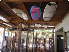 Boards & lockers at Los Flores Surf Club