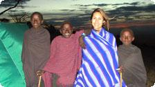 Angie and Masai friends