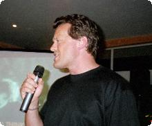 Tim singing in Mexico