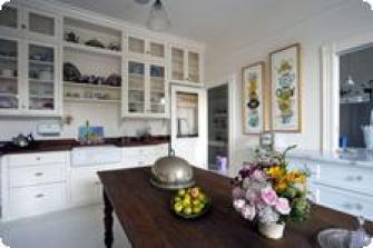 The breakfast table / pantry