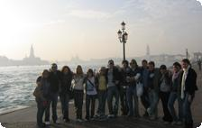 The whole group in Venice