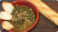 Garbanzo beans and spinach