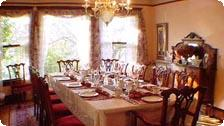 The dining room at the 11th Avenue Inn.