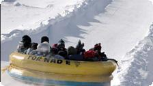 A snow slide in Quebec City.