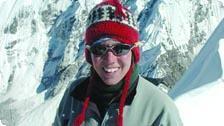 Sharyn at the summit of Island Peak