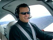 Tim Flying above San Francisco
