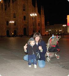 The author and her little italiano!