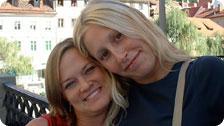Stephanie and me first day in Ljubljana