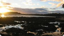 Sunset over tidepools