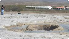 The Geysir about the blow