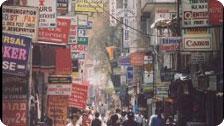 A tourist street in Kathmandu