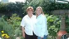 Kathy and I in the garden