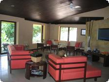 Community lounge area inside Los Flores
