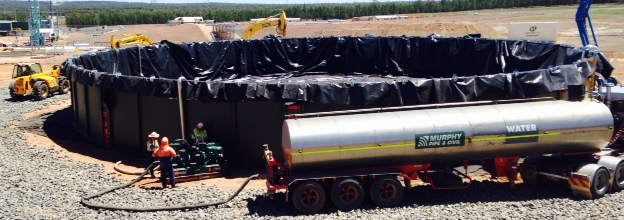 Frac Pond with pump (Tango Oilfield Rental Solutions)