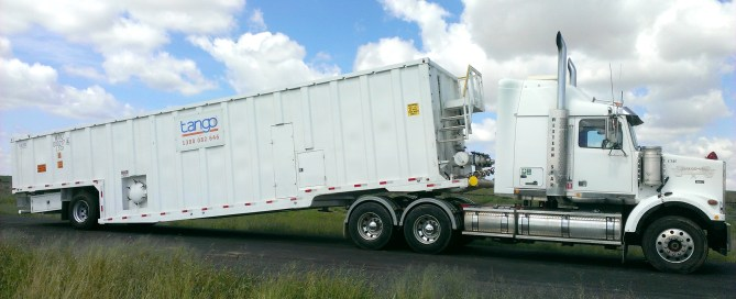 Mobile Frac Tank on truck (Tango Oilfield Rental Solutions)