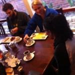 Sarah Kings eating breakfast