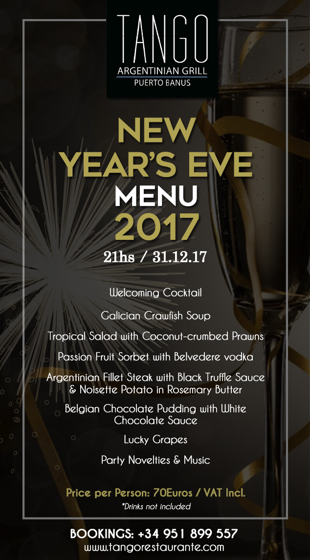 menu new year poster