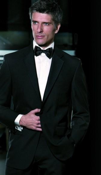 Black Tie Suit - Notch Lapel - Single button
