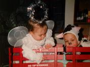 Seems like yesterday!!! When my babies, Colby (the cow) was 2 ½ and Gia (the angel) was 1 year old. Halloween 2001