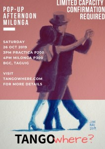 [T?] Pop-up Afternoon Milonga in BGC, Taguig @ To be announced