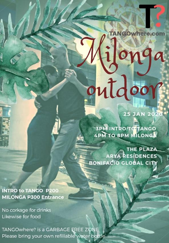 Outdoor Pop-up Milonga at Arya Plaza, Bonifacio Global City, Taguig
