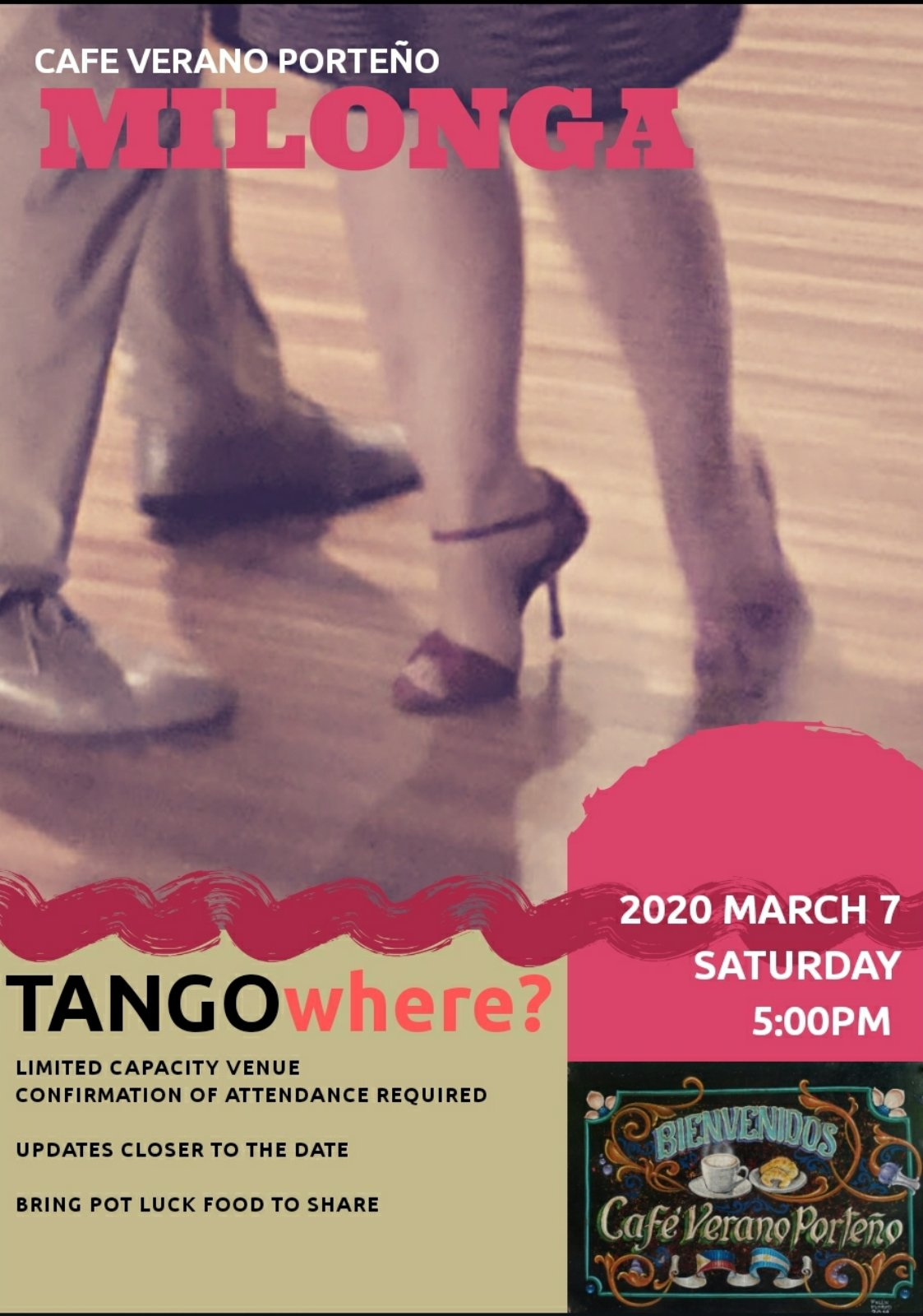 March 7, 2020: TANGOwhere milonga