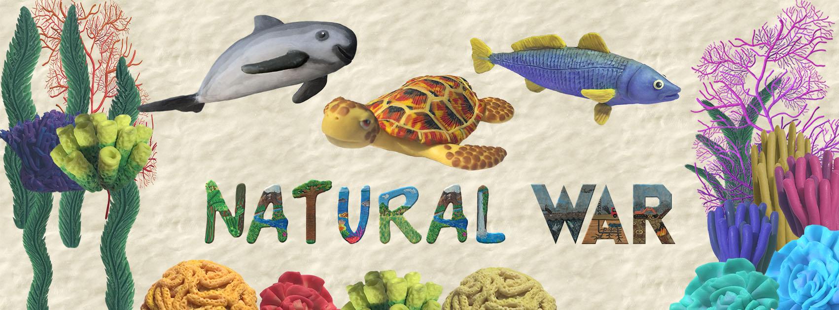Natural War, hecho en plastilina, plastilina, tan grande y jugando, indiegogo