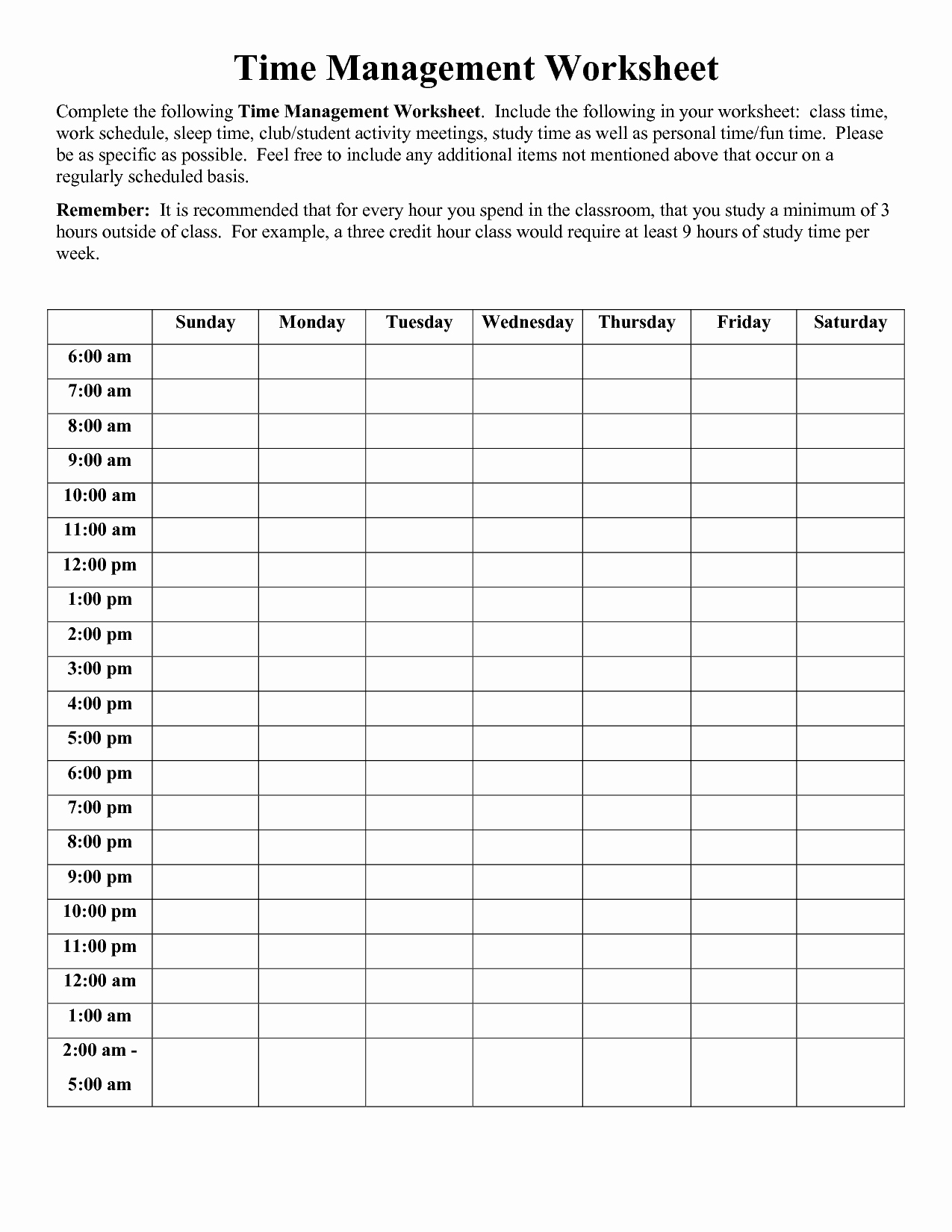 Time Management Sheet Then 9 Best Of Printable Worksheets
