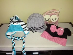 Zebra, adult newsboy hat with bling, owl, Minnie Mouse - all by Hooked On You Hats By Diana Evangelista