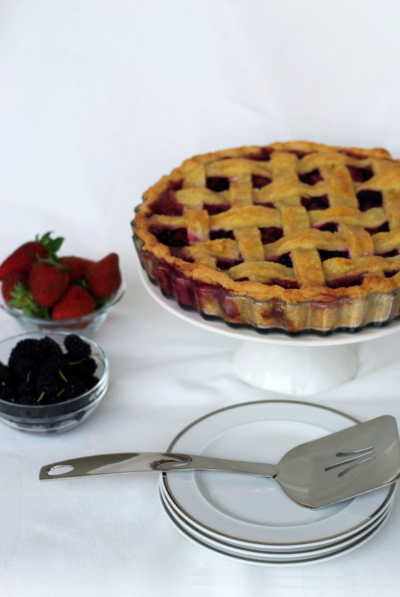 Blackberry & Strawberry Pie