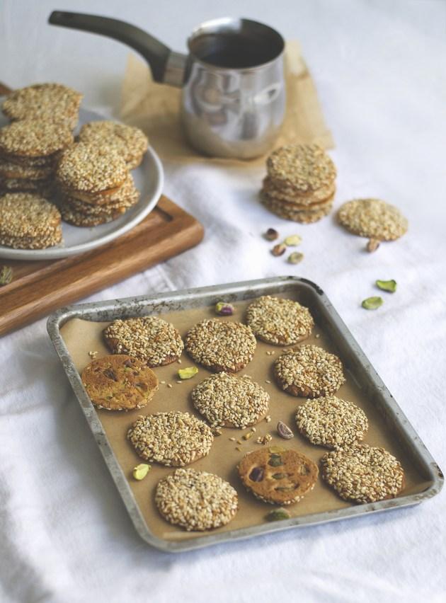Barazek Sesame Pistachio Cookies | Brownie Box