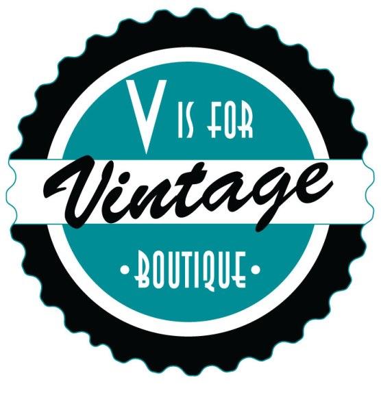 V is for vintage logo