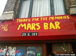 NYC'S FAMED MARS BAR