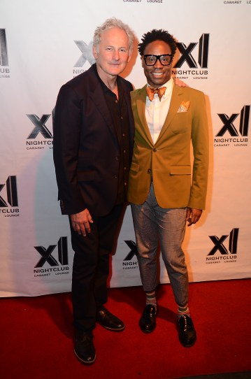 ACTOR VICTOR GARBER (L) AND 'KINKY BOOTS' BILLY PORTER AT XL NIGHTCLUB PHOTO CREDIT: ANDREW WERNER PHOTOGRAPHY