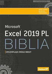 Excel 2019 PL. Biblia 210x300 - Excel 2019 PL BibliaMichael Alexander