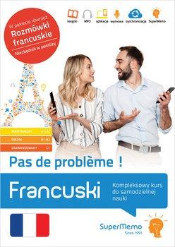 Francuski - Francuski Pas de problème Kompleksowy kurs do samodzielnej nauki poziom A1-C1Pleciński Jacek Plecińska Maria