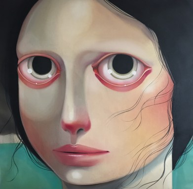 I'm happy inside 55 x 57 inches, oil on linen, 2015